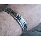Bracelet en Acier et Titane Style Grande Muraille - Argenté