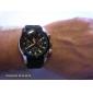 Men's Racing Style Black Dial Silicone Band Quartz Wrist Watch Cool Watch Unique Watch