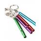 à long mince en aluminium sifflet porte-clés (couleur aléatoire)