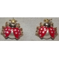 Lureme®Ladybug Gilted Earrings (Assorted Colors)