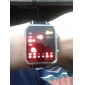 Reloj Pulsera Unisex de LED Binario con Correa de Cuero PU (Negro)