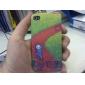 cas modèle route de campagne de protection pour iPhone 4 et 4s (vert)