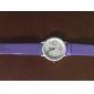 koeraスタイルの革バンドのファッションかわいい学生の女性の腕時計 - 紫