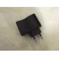 eu plugue usb ac dc fonte de alimentação carregador de parede adaptador mp3 mp4 dv carregador (preto)