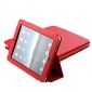 Protective PU Hard Leather Case + Stand for iPad 2/3 (Red) iPad  Cases / Covers