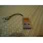 2.0 tf leitor de cartão microSD de mini chaveiro usb (laranja)