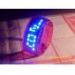conception future bracelet de montre au poignet bleu LED - Rouge