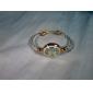 Femme Montre Tendance Bracelet de Montre Quartz Alliage Bande Rigide Elégant Blanc