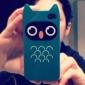 아이폰4/4S용 부엉이 캐릭터 패턴의 하드케이스 (블루)