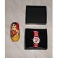 детский мультфильм дельфин стиль силиконовый аналоговые кварцевые наручные часы с мигающими привело свет (красный)