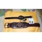 мужчин и компактный пу женщин аналоговые кварцевые наручные часы (разных цветов)