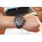 V6 남성용 밀리터리 시계 석영 일본 쿼츠 실리콘 밴드 블랙