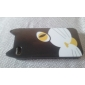 Cartoon Cat Pattern Hard Case for iPhone 4 and 4S (Black)