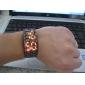 Masculino Relógio de Pulso Digital LED Calendário Aço Inoxidável Banda Preta