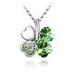 зеленый блестящий кристалл и платины покрытием сплава ожерелье