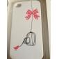 아이폰4용 사랑스러운 PVC 보호케이스 커버 (화이트)