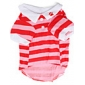 Dog Shirt / T-Shirt Red Dog Clothes Spring/Fall Stripe
