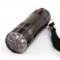1-режиме нержавеющей стали 9-светодиодный фонарик (3x10440/3xaaa, черный)