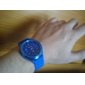 Orologio al quarzo, cinturino blu in silicone