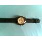 여성의 실리콘 아날로그 석영 손목 시계 (블랙)