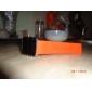 unisex Digital LED vermelho quadrado caso laranja silicone banda relógio de pulso