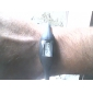 Пара спортивных силиконовых часов (черные и бирюзовые)