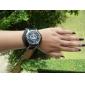내리는 경우와 군사 검은 색 가죽 밴드 석영 손목 시계