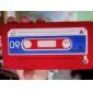 caso cassete de proteção única macio para iPhone 4 (vermelho)
