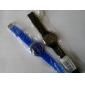 Women's Chrysanthemum Style Blue Silicone Band Quartz Wrist Watch Cool Watches Unique Watches