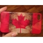 Case em Policarbonato para iPhone 4 / 4S - Bandeira Canadiana Retro