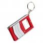 Key Ring 3-en-1 (1-Lampe de poche, ouvre-bouteille et ruban à mesurer)