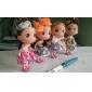 bonecas das crianças estilo de liga de quartzo analógico chaveiro relógio (rosa)