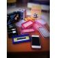 Стильный защитный бампер для iPhone 4 (бело-розовый)