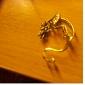 bronze e liga de brincos retro dragão