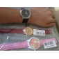 Mujer Reloj de Moda Reloj de Vestir Cuarzo PU Banda Minimalista Negro