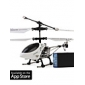 3 Channel I-Helicopter 777-172 with Gyro Controlled by iPhone/iPad/iPod Touch(White)