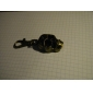 해골머리 모양의 남녀공용 합금 아날로그 쿼츠 키체인시계 (브론즈)