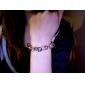 moda strass coração estilo pingente pulseira