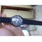 Модные кварцевые часы с черным силиконовым ремешком