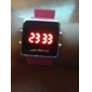 Unisex Silicone Style Sports Red LED Wrist Watch (Pink) Cool Watches Unique Watches