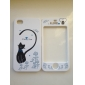 Full Body Case for iPhone 4/4S - Blue Tie Long Tail Cat