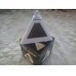 7 couleurs changeantes conduit en forme de pyramide réveil numérique horloge calendrier thermomètre (blanc, 3xAAA)