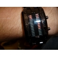 Couple Style Double Row Arrayed LED Wrist Watches (Men's Green, Women's Red) Cool Watch Unique Watch