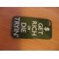 Sloganeer caso estilo rígido para iPhone 4/4S