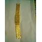 Masculino Relógio de Pulso Digital LED Calendário Aço Inoxidável Banda Dourada Dourado