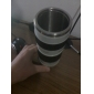 Unique Simulation White Long Camera Lens Style 350ml Thermos Mug Cup