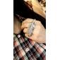 두 손가락 잎 모양 조각 판 링