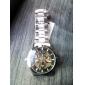 Мужской Часы со скелетом С автоподзаводом С гравировкой Нержавеющая сталь Группа Черный марка