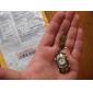 rétro voiture de sport de unisexe en alliage à quartz analogique montre porte-clé (bronze)