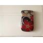 affaire stripe style et le cadre de pare-chocs pour blackberry 8520/9300 (rouge)